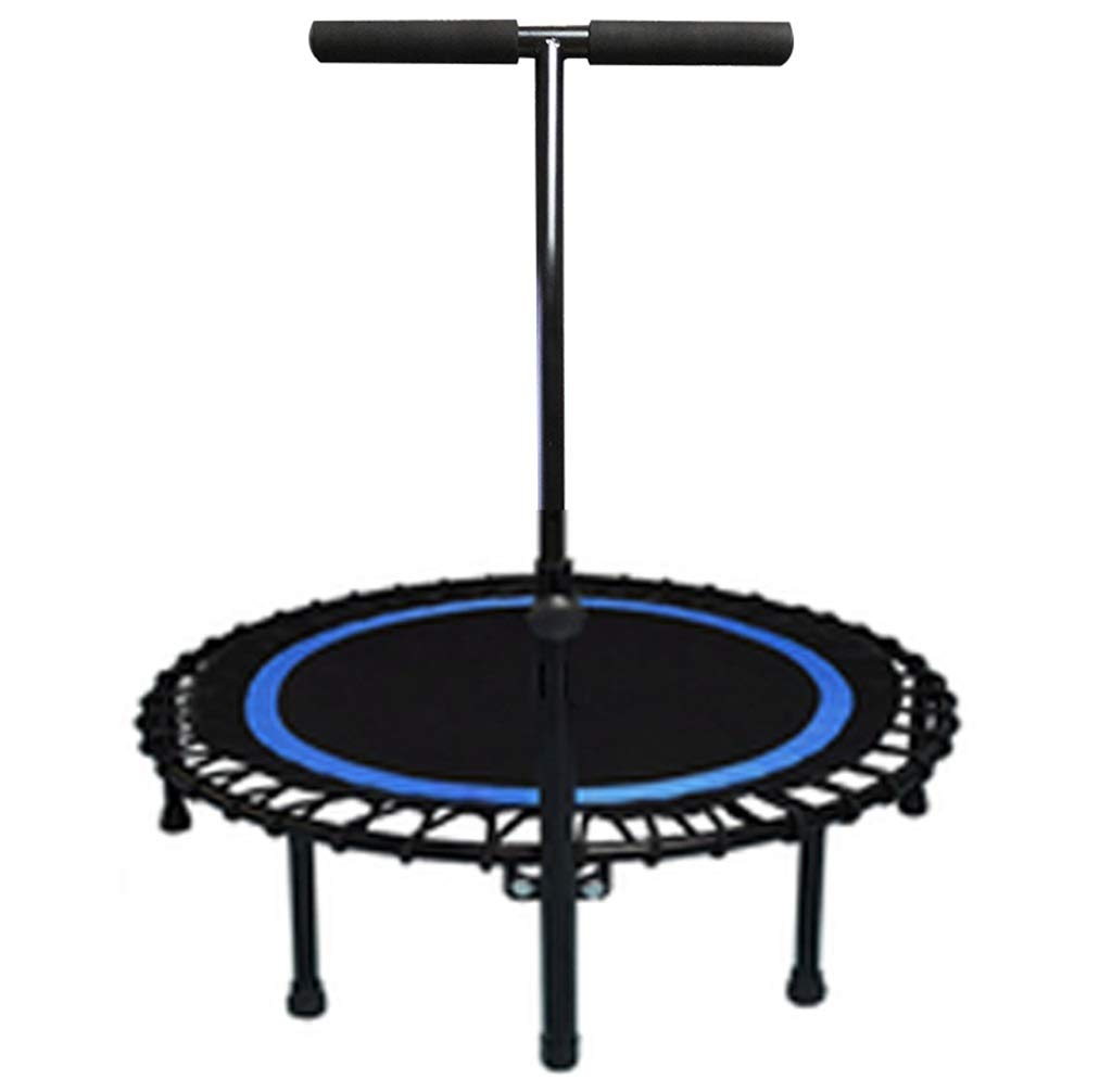 LKFSNGB Adult Fitness Fat Loss Trampoline Mute Indoor Trampoline Men's and Women's Universal Jumping Bed - 40'' - with Stabilizer Bar by LKFSNGB