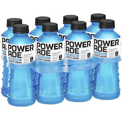 Zero Fat - POWERADE ZERO, Zero Calorie Electrolyte Enhanced Sports Drinks, Mixed Berry, 20 fl oz, 8 Pack
