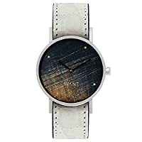 South Lane ' Swiss Quartz Stainless Steel and Leather Casual Watch, Color:Black (Model: swiss-bl-81)