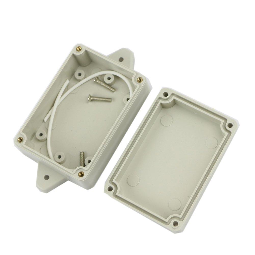 JOYKK 85x58x33mm Custodia Protettiva in plastica Impermeabile per progetti elettronici Bianca