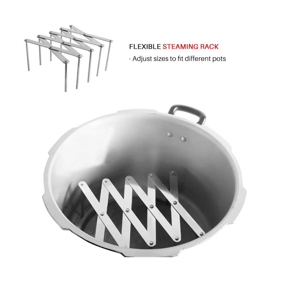 WINIT Ausziehbare Topfdeckel-Halterungen Mehrzweck-Dampfgestell Pfannen Gl/äserhalter Flexible Teller-Organizer K/üche Backgeschirr Schneidebrett Trocken-Rack f/ür Schrank Speisekammer