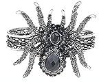 Alilang Silvery Metal Spider Bangle Bracelet Halloween