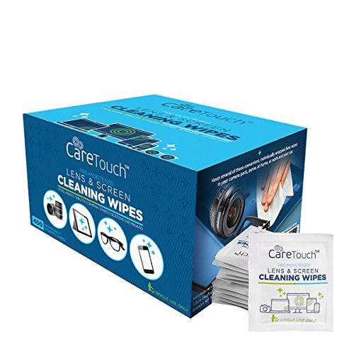 Care Touch Lens Cleaning Wipes, Pre Moistened Cleansing Cloths Great for Eyeglasses, Tablets, Camera Lenses, Screens, Keyboards and Other Delicate Surfaces (400 Lens - Eye Best Lenses The