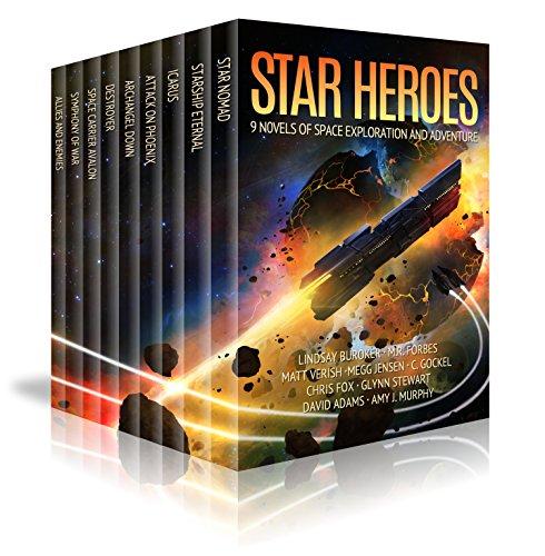 Star Heroes: 9 Novels of Space Exploration, Aliens, and Adventure by [Buroker, Lindsay, Forbes,M.R., Verish,Matt, Jensen,Megg, Gockel,C., Fox,Chris, Stewart,Glynn, Adams,David J., Murphy,Amy J.]