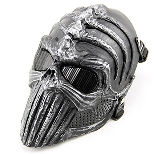 Overhead Skull Mask Halloween Cosplay Outdoor Hunting Cs War Game Mask Skull Skeleton Airsoft Paintball Full Face Tactical Protective Mask