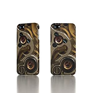 Apple iPhone 4 / 4S Case - The Best 3D Full Wrap iPhone Case - Golden Watch Gears by icecream design