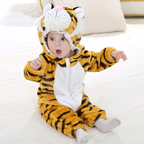 IDGIRL baby girls and boys' Flannel Cotton rompers Tiger-100CM Tiger 19-24 Months by IDGIRL (Image #4)