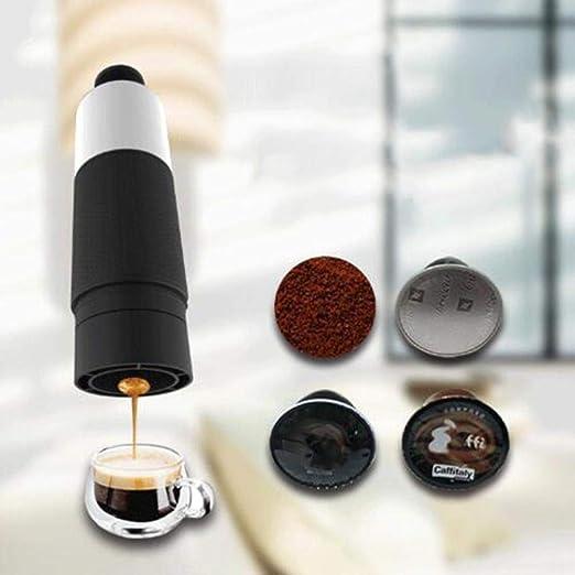 YGGY Mini cafetera de presión Manual Cápsulas portátiles Cafetera Taza de cocción Manual 21 Bar Cafetera de Espresso Italiana Olla de extracción: Amazon.es: Hogar