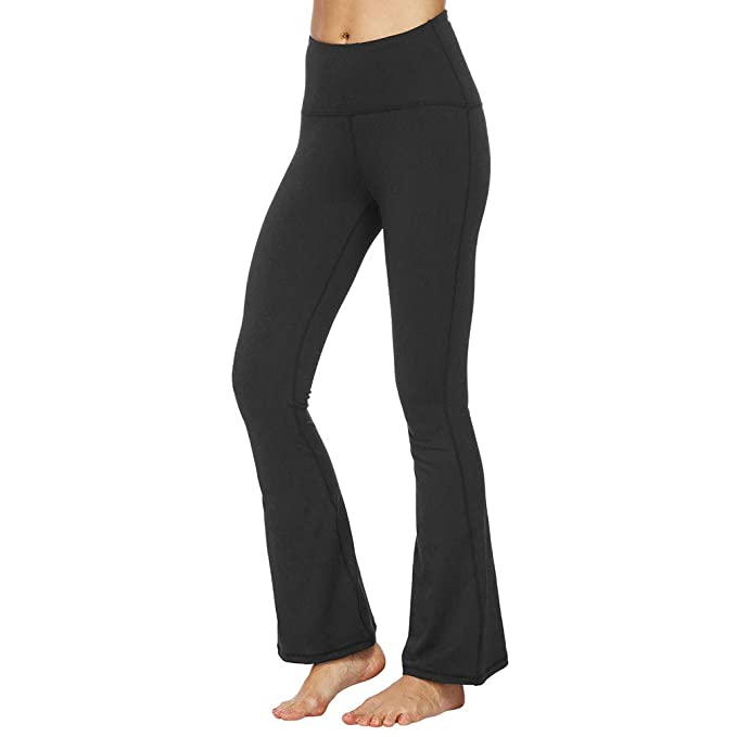 sleek cheap price look for Tesuwel Women's Bootcut Yoga Pants High Waist Workout Pants ...