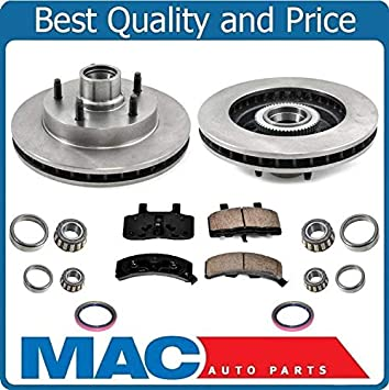 Brake Pads And Rotors Prices >> New Front Rotors Brake Pads Bearings For Dodge Ram 1500 94 99 Rear Wheel Drive