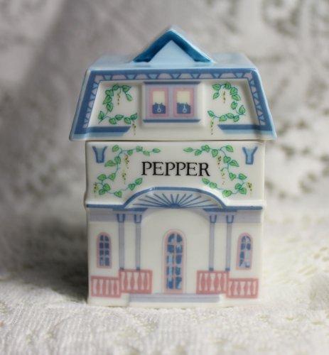 (Pepper 'Lenox Spice Village' Porcelain Victorian House Spice Jar)