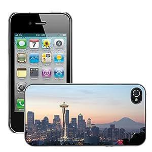 Print Motif Coque de protection Case Cover // M00293178 Horizonte de la ciudad de Seattle // Apple iPhone 4 4S 4G