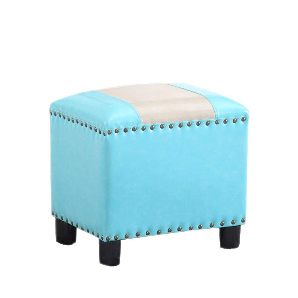 Amazon.com: HM & DX taburete otomano de piel, estilo vintage ...