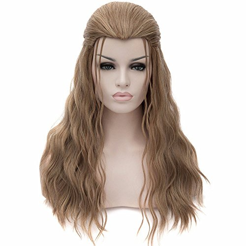 RightOn Long Curly Cosplay Costume Party Wig Soft Hair with Wig Cap and Comb