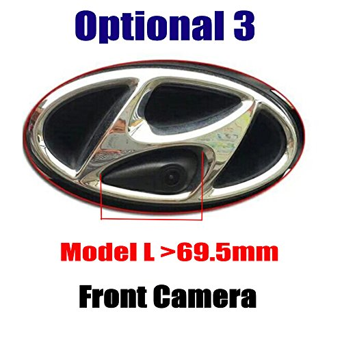 Front View Camera Parking System with CCD Waterproof for Hyundai IX35 ix45 ix25 ix30 Accent Azera Elantra Genesis i40 i45 Santa Fe Sonata Tucson Veloster (Hyundai Logo Gap Distance ≥ 69mm)