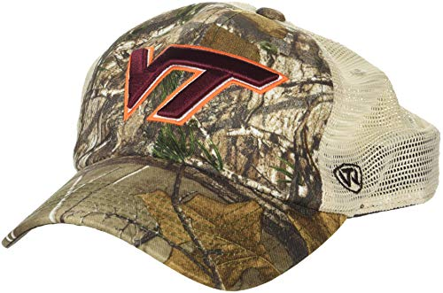 NCAA Virginia Tech Hokies Men's Camo Stock Adjustable Mesh Icon Hat, Real Tree ()