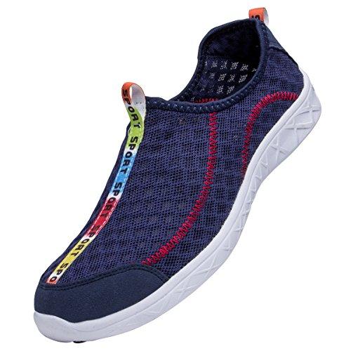 ah1k23 Womens Mesh Slip On Water Shoes Dark Blue O1aH587OW