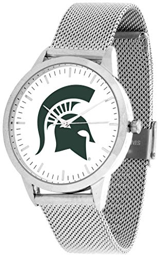 Michigan State Spartans - Mesh Statement Watch - Silver Band ()