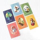 Fairy Tale Illustration Postcard Book 3.9'' x 5.9'' 12 Postcards 5 Envelopes Set of 6