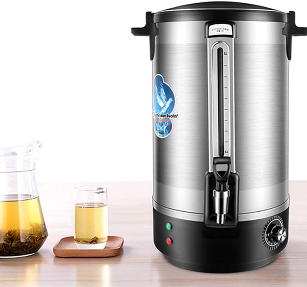 Coffee Urn and Hot Beverage Dispenser, Warmer Coffee Urn Stainless Steel Hot Water Kettle Dispenser, Switch and Indicator Light,Automatic Temperature Control, Easy Prep & Easy Clean Up