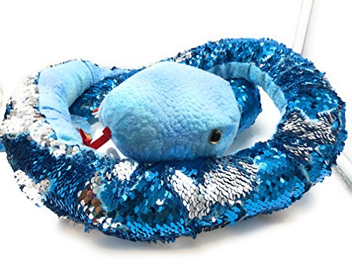 Rhode Island Novelty Adventure Planet Natural Sequin Snake 67'' Blue reverses to Silver) by Rhode Island Novelty