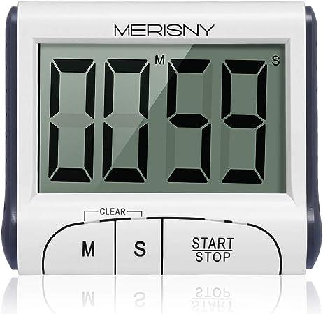 Merisny Minuteur De Cuisine Electronique Minuterie Numerique 24