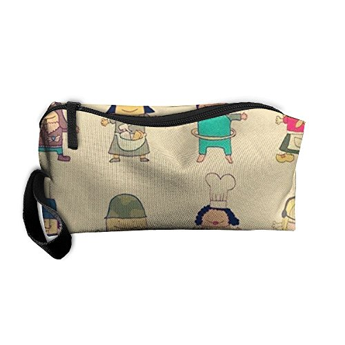 NEW Cartoon Two Head Characters Portable Travel Cosmetic Cosmetic Case Women's Men's Razor Storage Bag£¡