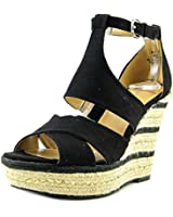 Nine West Jinio Women Open Toe Canvas Wedge Sandal