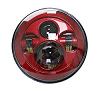 SKTYANTS 7 inch Daymarker RED led light bulb headlight Motorcycle Projector for harley tourng street