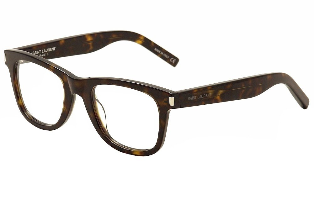 Saint Laurent Eyeglasses SL50 SL/50 006 Havana/Transparent Optical Frame 50mm