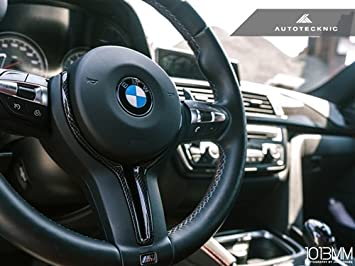 For BMW M2 F80 M3 F82 M4 M5 M6 X5M X6M Carbon Fiber Steering Wheel Trim Cover