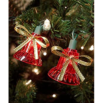 This Item Set Of 40 Red Musical Bell Multi Function Christmas Lights    Green Wire