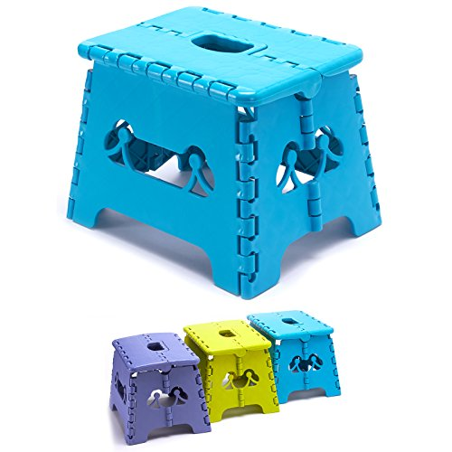 Klapphocker Hocker Faltbar Tritthocker Klapptritt Kinderhocker Blau Grün Lila (Blau)