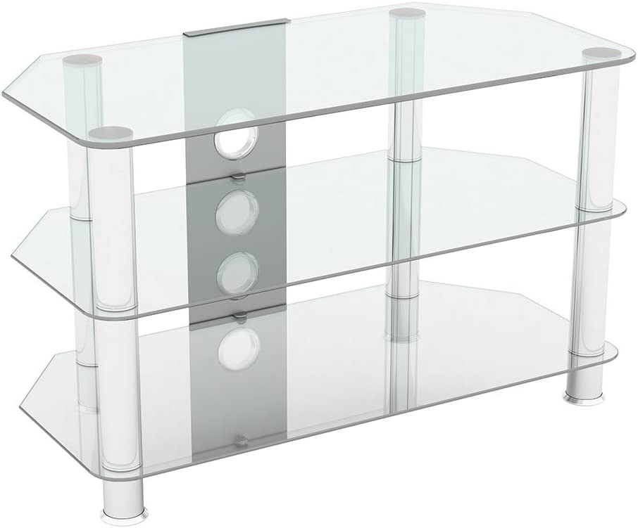 King Glass Tv Stand For Hd Led Lcd 4k 8k Qled Tvs Up To Amazon Co Uk Electronics