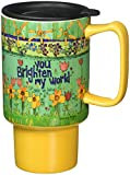 Lang Brighten My World Travel Mug by Stephanie Burgess, Multicolored