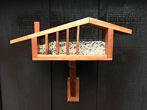 (Package Deal- Mid Century Modern Ranch House Bird Feeder, Includes: Feeder Shipping, Mounting Arm and Seed Scoop, Cliff May, Googie, Eichler, Post War Track)