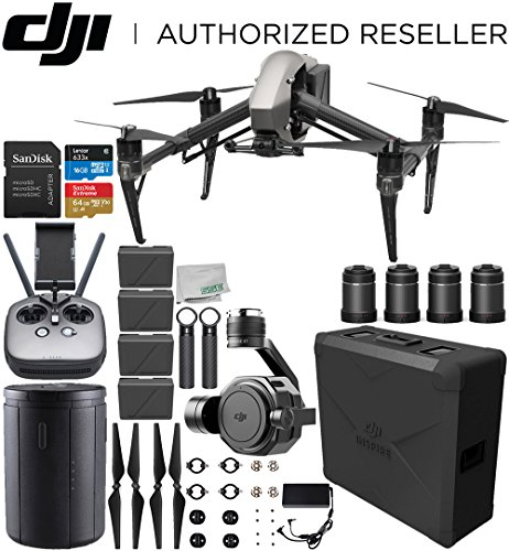 DJI Inspire 2 Quadcopter with Zenmuse X7 + DL & DL-S Lens Set Ultimate Handheld Bundle