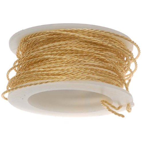 Brass Twisted Wire - Artistic Wire Twisted-Brass - 20 Gauge, 3yd