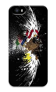 IMARTCASE iPhone 5S Case, Eagles Hawk Flags Usa Illinois State PC Hard Plastic Case for Apple iPhone 5S and iPhone 5