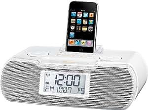 Sangean RCR-10 - Radiodespertador con estación de conexión para iPod (importado)