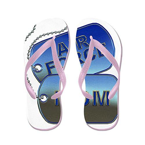 Cafepress Air Force Mom Dog Tags - Flip Flops, Grappige String Sandalen, Strand Sandalen Roze