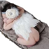 : Newborn Baby Photography Props Angel Wings and Hair Band Cute Photo Accessory by iFergoo