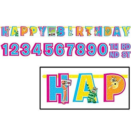 YO GABBA GABBA JUMBO LETTER BANNER KIT ~ Birthday Party Supplies Decorations]()