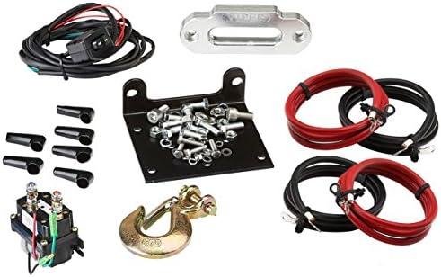 VIPER Midnight 4500lb ATV//UTV Winch Kit with 50 feet BLACK Synthetic Rope