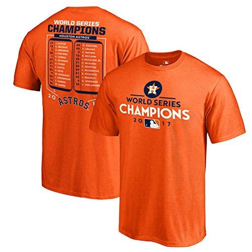 Houston Astros Fanatics Branded 2017 World Series Champions Roster T-Shirt - Orange (3XL)