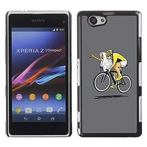 Be Good Phone Accessory // Dura Cáscara cubierta Protectora Caso Carcasa Funda de Protección para Sony Xperia Z1 Compact D5503 // Funny E.T Bicycle Race
