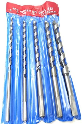 LONKER 5PCS 6~14mm hexagonal handle Luo drill bit Brad Point Drill Bits Set Augers Woodworking Drill Bit Wood Boring Extra Long 230mm