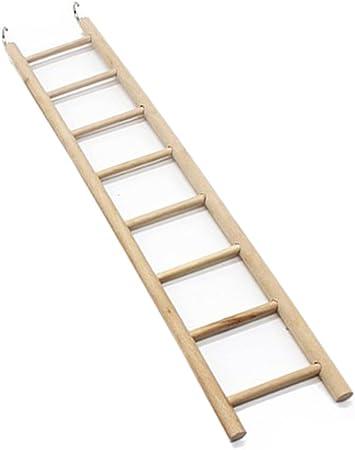 EMVANV Juguetes de pájaros 3/4/5/6/7/8 escaleras hámsters jaula de pájaros Parrot suministros escaleras de madera rascador perca escalada juguetes mascotas: Amazon.es: Productos para mascotas