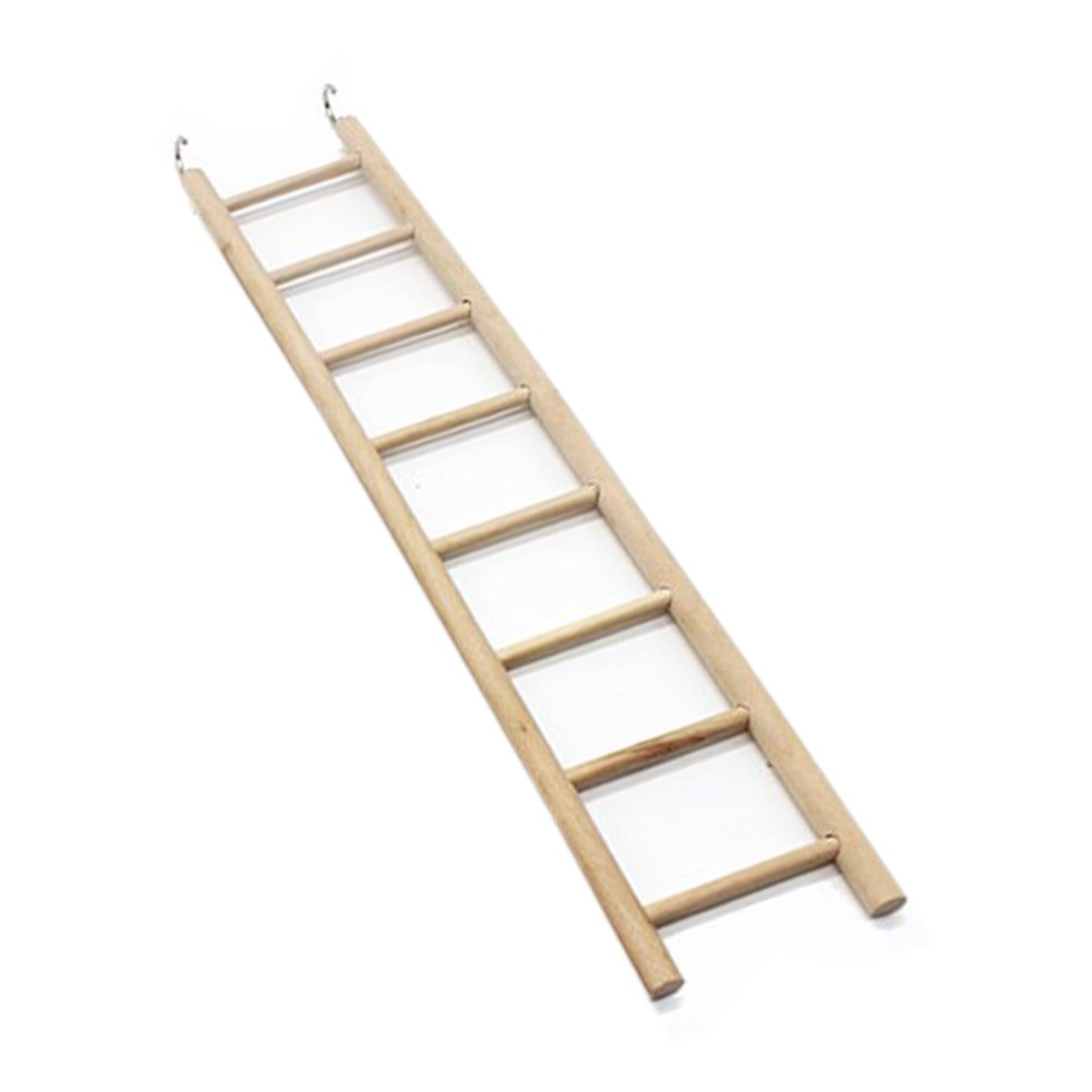 Bird Wood Perches for Parrots 3/4/5/6/7/8 Ladder Bird Toys Ladders Rocking Climbing Stairs Toys Supplies by Goonpetchkrai.rapat7498