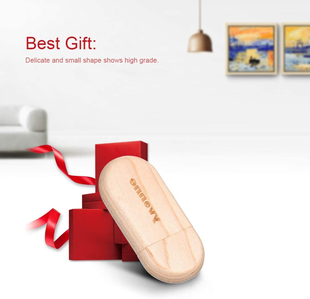 Docooler Wooden USB Flash Drive Oval Pen Drive Memory Stick Pendrives Gift Yvonne
